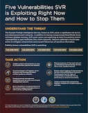 Five Vulnerabilities SVR is Exploiting Right Now & How to Stop Them Infographic