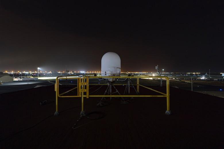 A photo of a weather radar