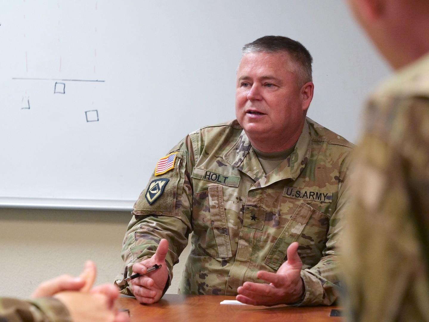 Brig. Gen. Holt visits WV Troops Prior to Middle East Deployment. (Courtesy photo provided)
