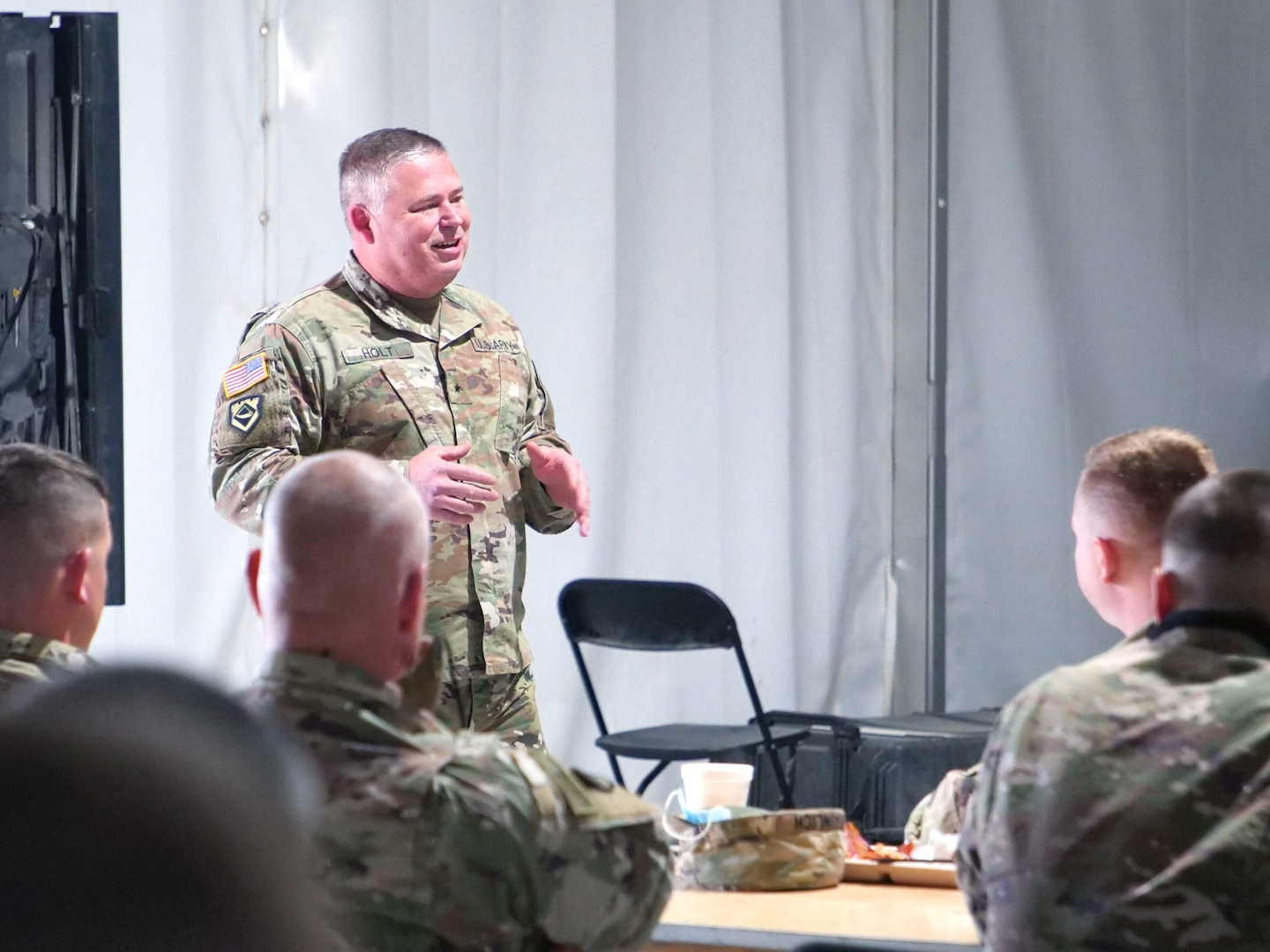 Brig. Gen. Holt visits WV Troops Prior to Middle East Deployment. (Courtesy photo provided)