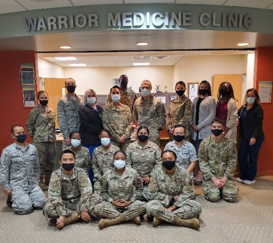 The 6th Operational Medical Readiness Squadron Warrior Medicine Clinic team's mission is to prioritize the evaluation and treatment of active component service members to ensure a fit and ready force. (Courtesy photo)