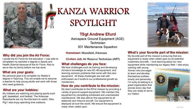 KANZA Warrior Spotlight April 2021