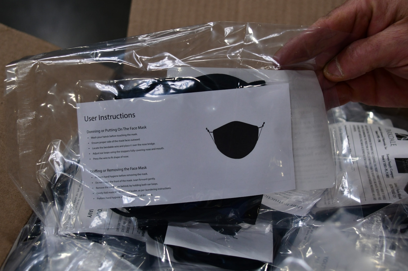 DLA supports White House effort to supply masks for low-income communities