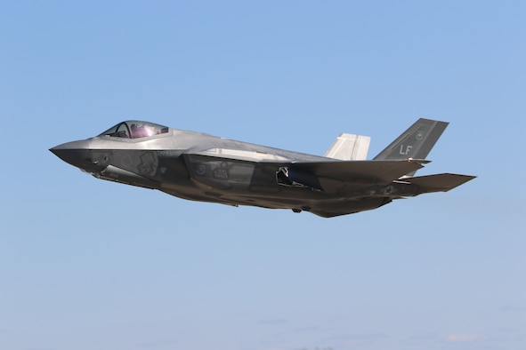 An F-35A assigned to Luke Air Force Base, Arizona, takes off for an exercise during Northern Thaw at Volk Field Air National Guard Base, Wisconsin, April 1, 2021.The two-week Northern Thaw exercise was a total force exercise providing tailored, cost-effective, tactical level, high-end combat training.