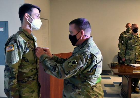 Plainfield, Ill., native and 647th Regional Support Group (Forward) Soldier promoted to Sergeant