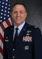 Col. Bryan M. Bailey, 911th Operations Group commander, poses for his official portrait April 15, 2021.