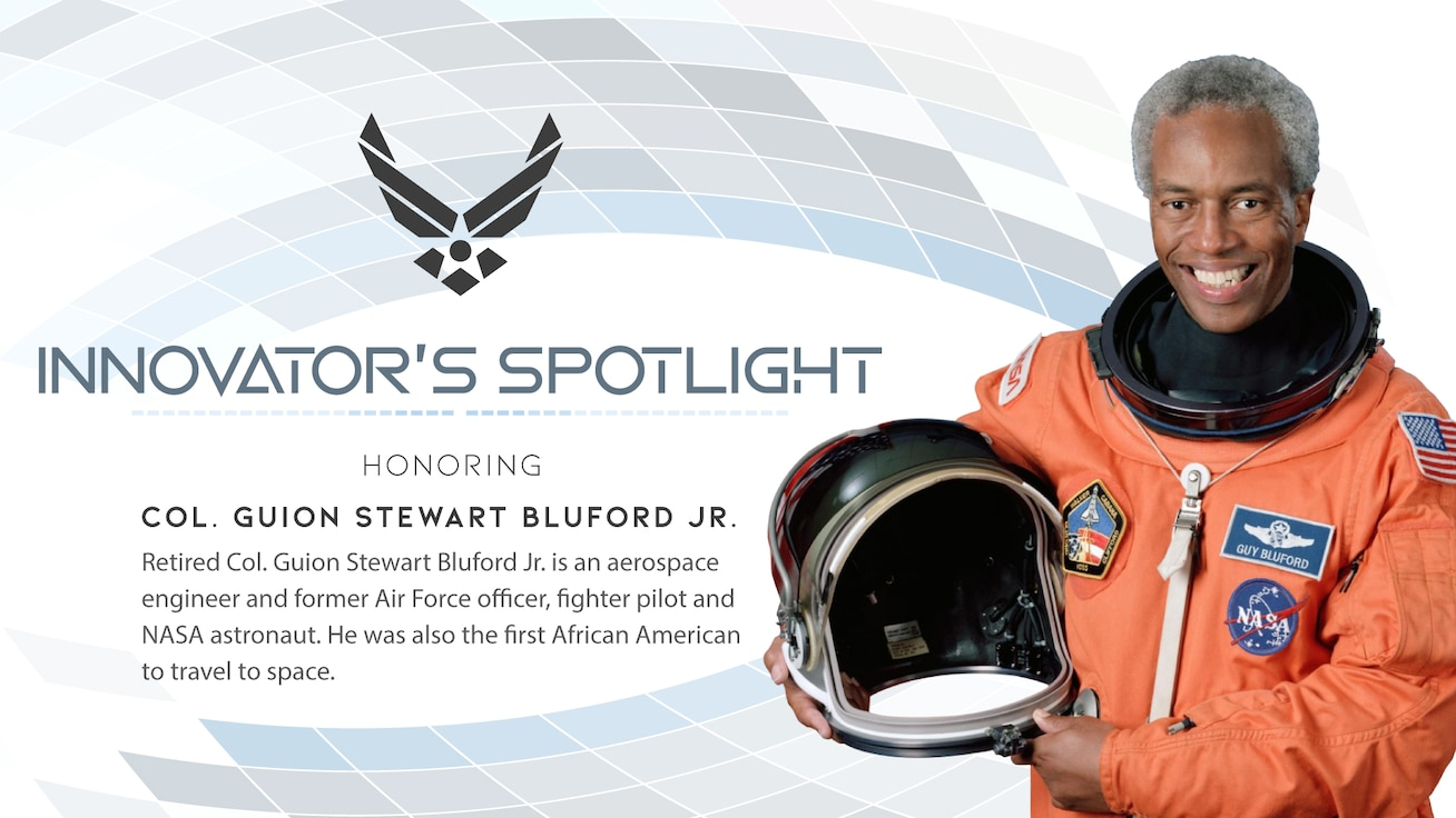 Retired Col. Guion Stewart Bluford Jr. is an aerospace engineer and former Air Force officer, fighter pilot and NASA astronaut. He was also the first African American to travel to space.