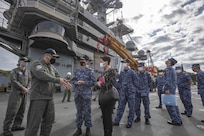 U.S. Navy, Japan Conduct Staff Talks aboard USS Ronald Reagan