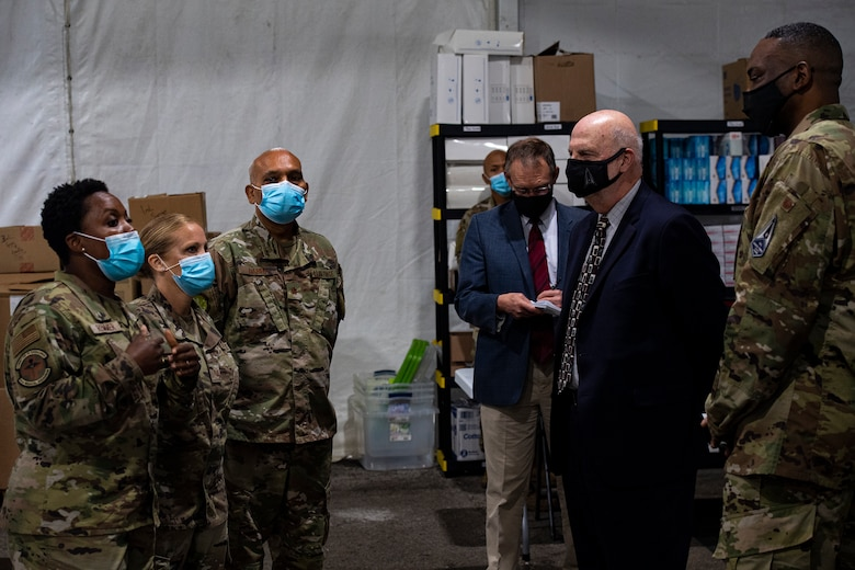 Airmen showcase COVID-19 Community Vaccination Center mission during Acting SecAF visit