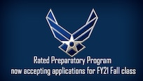 Air Force wings logo on blue background