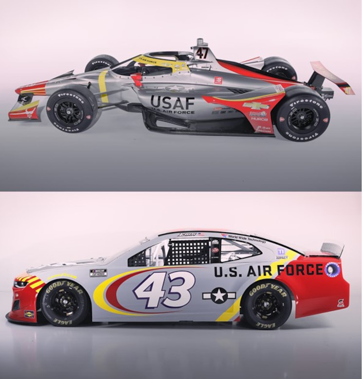 Air Force Recruiting Service and their partners at Richard Petty Motorsports and Ed Carpenter Racing introduced their newest paint scheme to honor the Tuskegee Airmen for the 2021 race season.