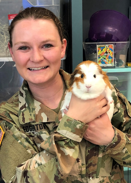 U.S. Army Capt. Cynthia Edgerton with her pets.