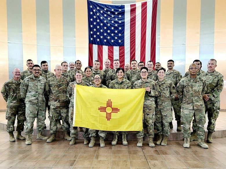 Members of the 210th Red Horse Squadron, New Mexico Air National Guard, departed for Southwest Asia after completing Combat Skills Training at Fort Bliss, Texas.