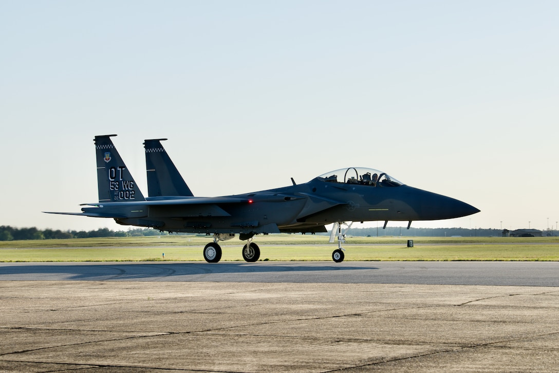 F-15EX on the runway