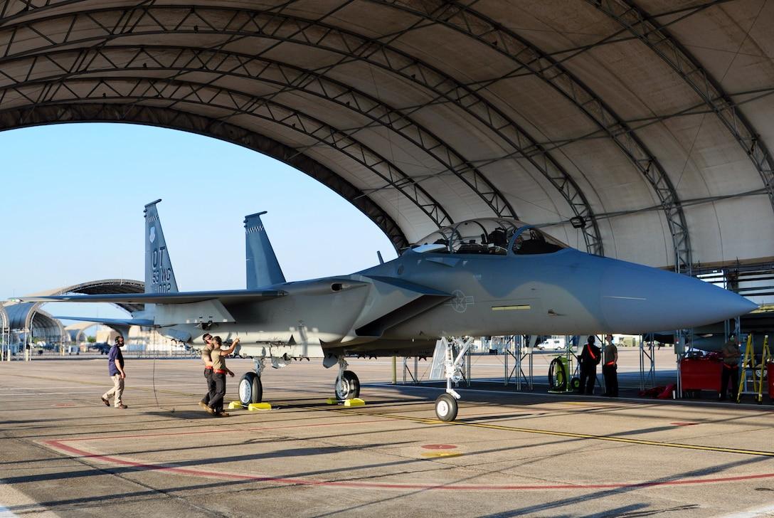 f-15 ex on ramp