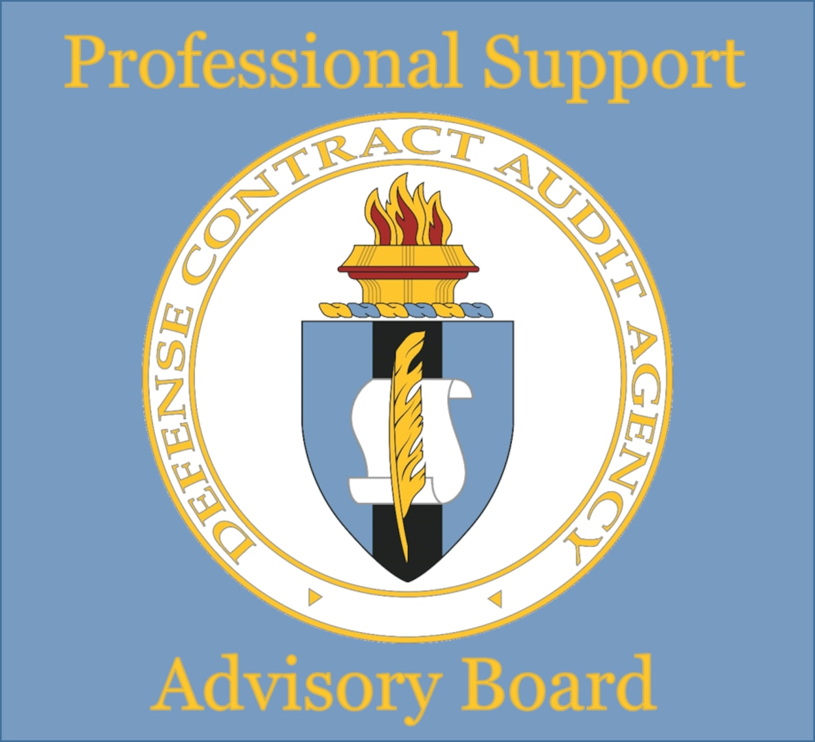 seal of dcaa with words professional support advisory panel added