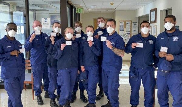 Crewmembers of U.S. Coast Guard Cutter Adelie