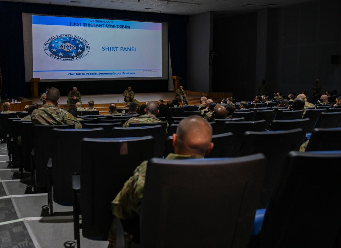 386th AEW; First Sergeant Symposium; leadership; Ali Al Salem Air Base; Airman; shirt