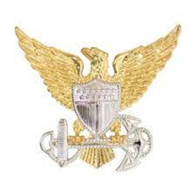 Coast Guard officer cover insignia
