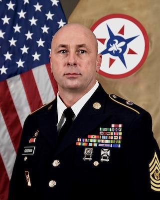 Command Sgt. Maj. Jason Goodman, 316th ESC Command Sgt. Maj.
