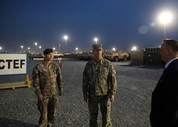Polish ambassador to Kuwait tours 1st TSC's Camp Arifjan CTEF yard