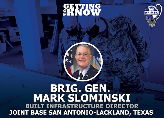 Graphic of Brig. Gen. Mark Slominski