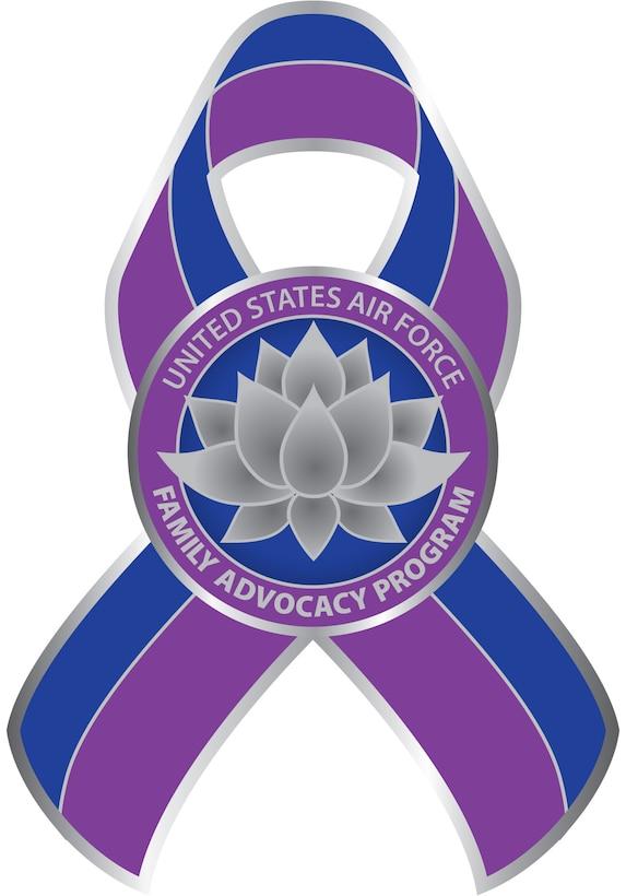 Logo design using Adobe Illustrator, incorporating a lotus flower and custom 2-color awareness ribbon.