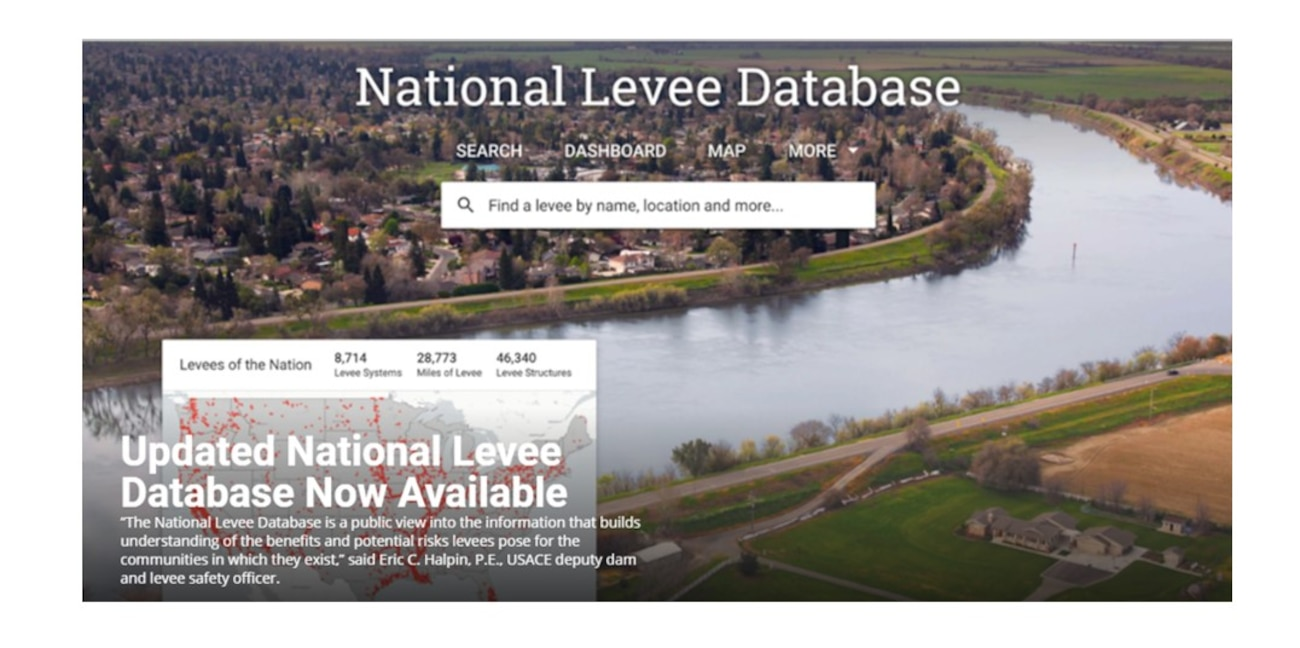 The National Levee Database is a public view into the information that builds understanding of the benefits and potential risks levees pose for the communities in which they exist.
