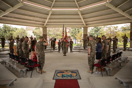 U.S. Marine Corps Col. Andrew T. Priddy relinquished command of the 13th Marine Expeditionary Unit to Lt. Col. Daniel J. Hipol during a Transfer of Authority ceremony at Camp Pendleton, Calif.