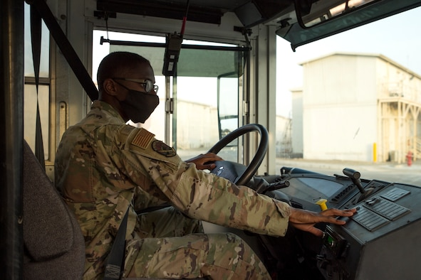 Ground transportation Airmen keep the mission rolling