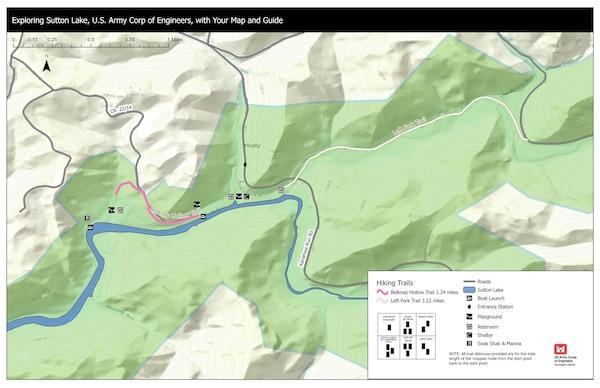 Sutton Lake Trail Map - Eastern View