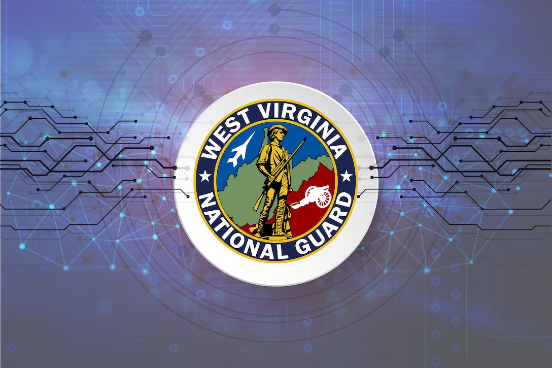 Graphic depicting West Virginia National Guard cyber initiative.