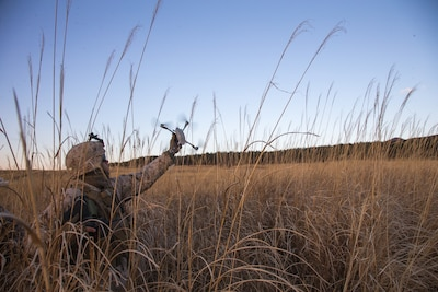A U.S. Marine utilizes a drone at Combined Arms Training Center, Camp Fuji, Japan, Jan. 22.