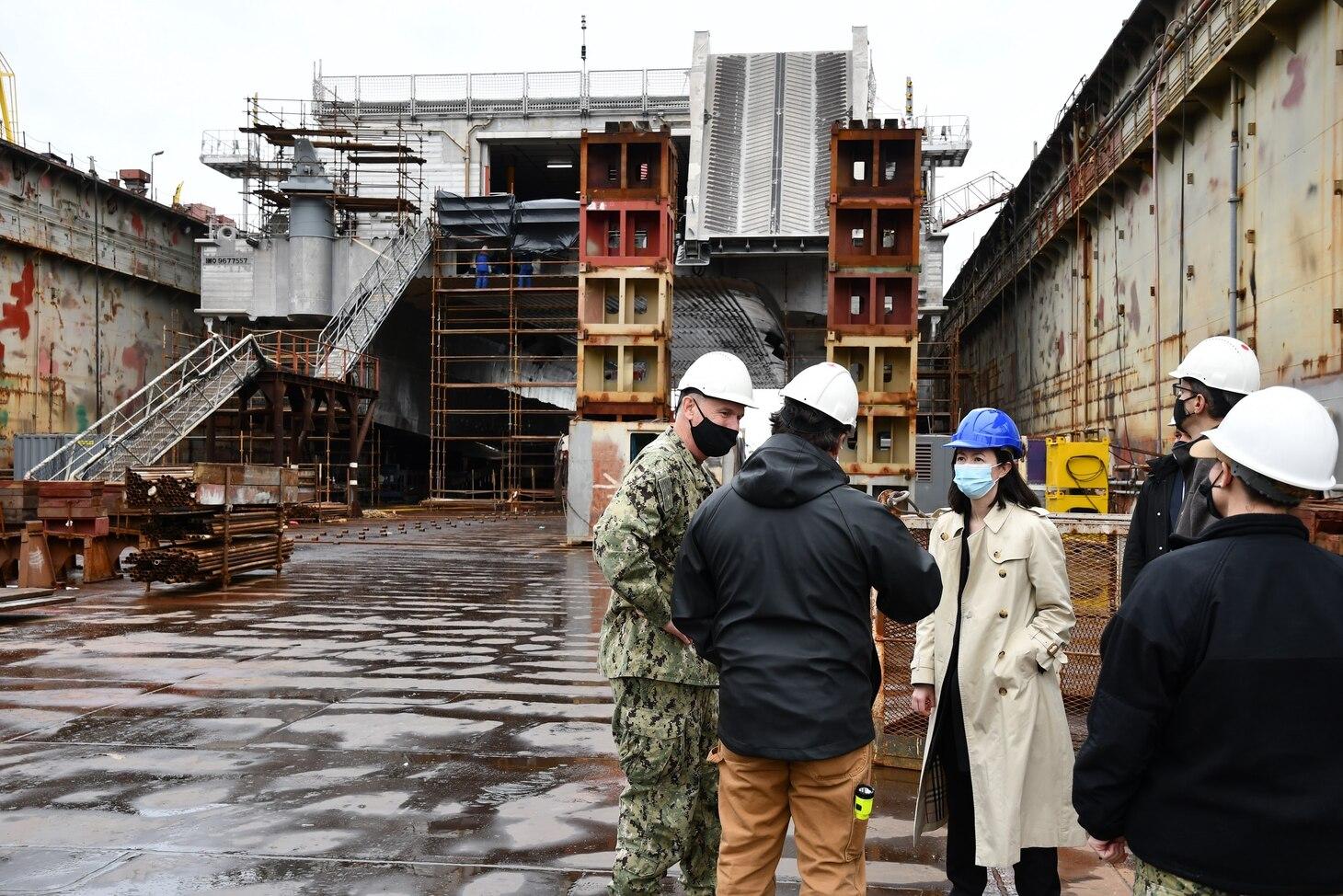 Vice Adm. Gene Black, commander, U.S. Sixth Fleet, visited Rijeka, Croatia, on April 27th to speak with Croatian military leadership and meet with crews of three U.S. Navy ships undergoing lifecycle maintenance at the Viktor Lenac shipyard.