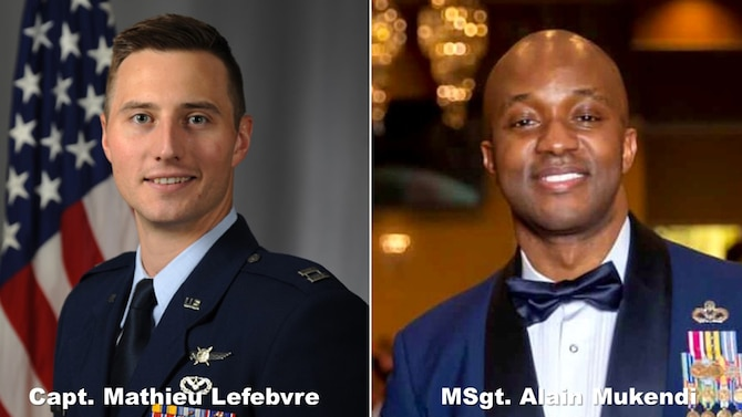 LEAP Scholars Capt. Mathieu Lefebvre and Master Sgt. Alain Mukendi were initially notified of their eligibility for the Coaching Culture Facilitator Course through the MyPers website. Photos courtesy of Capt. Lefebvre and Master Sgt. Mukendi, respectively.