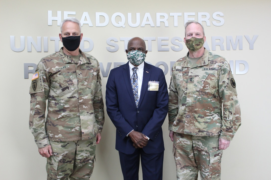 N.C. Department of Military and Veterans Affairs official visits USARC