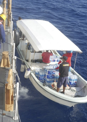 Coast Guard Cutter delivers emergency supplies to Palau following Typhoon Surigae