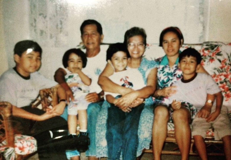 This photo is of Tech. Sgt. Leo Mangahas' family in the Philippines when he was a child.