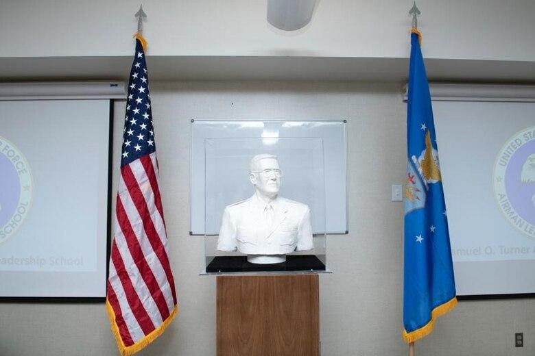 The Samuel O. Turner Heritage Sculpture was dedicated at Ellsworth Air Force Base, S.D., April 20, 2021.