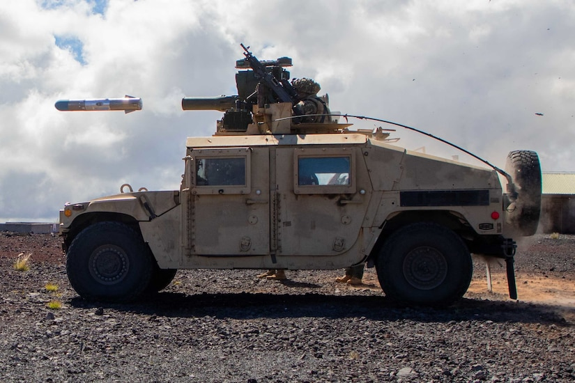 A missile is fired during an exercise.