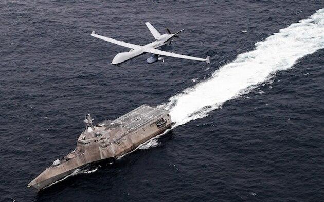 MQ-9 in the ocean