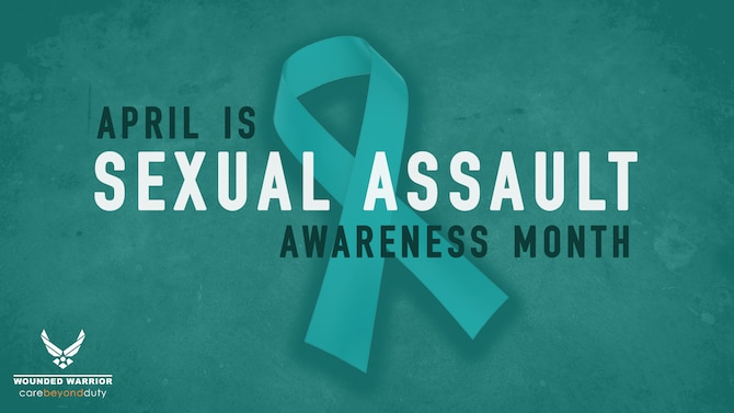 April is Sexual Assault Awareness Month. (U.S. Air Force Graphic by Daria Flowers)