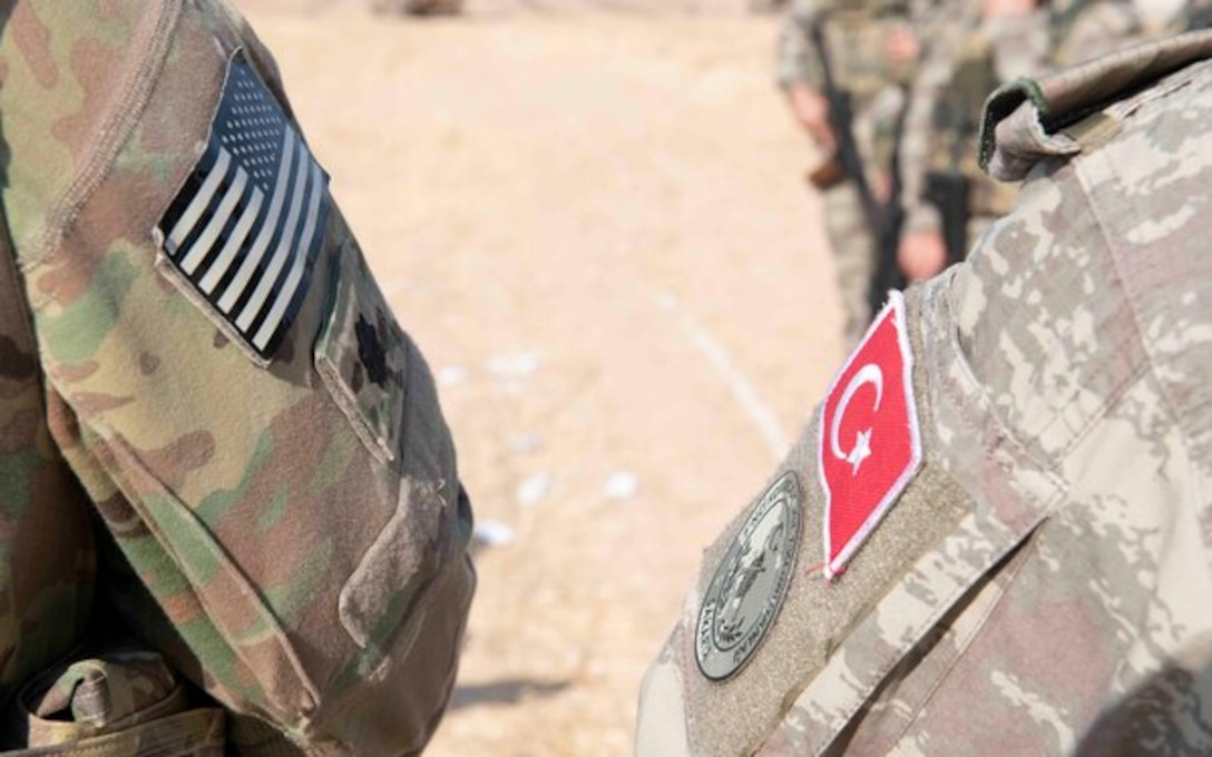 US and Turkish Flag