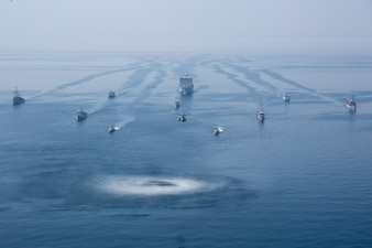 A multinational group of mine countermeasure ships is underway during exercise Artemis Trident 21 in the Arabian Gulf.
