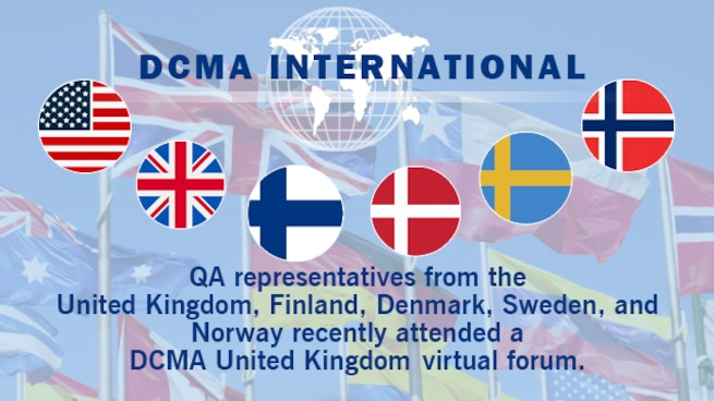 Graphic shows the United States, United Kingdom, Finland, Denmark, Sweden, and Norway's flags.
