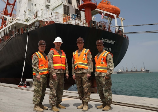 1st TSC DCG tours ammo off-load-on-load operations at Kuwait's Port Shuaiba