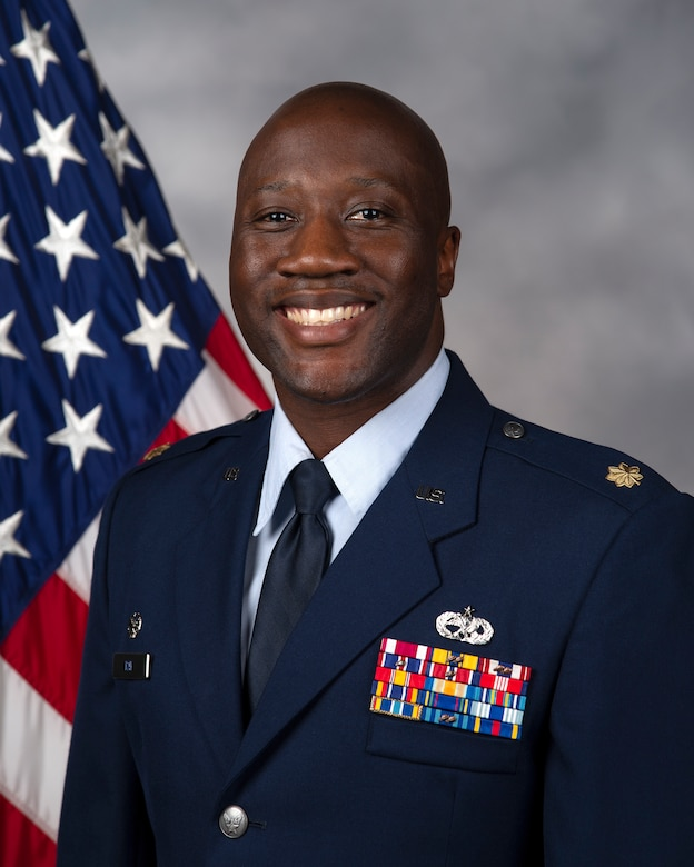 Maj. Brandon Ray, 436th Maintenance Squadron commander, official photo.