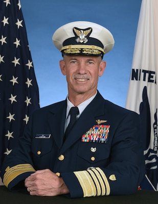 Portrait photo of Admiral Charles Ray, USCG