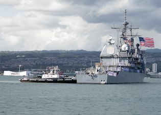USS Port Royal (CG 73) returns to Joint Base Pearl Harbor-Hickam from a deployment.