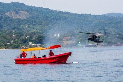 JTF-Bravo conducts overwater survival training in Colon, Honduras